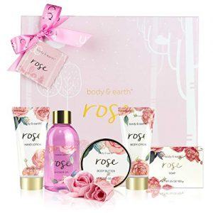 Bath Spa Gift Box for Women - Luxurious 6 Piece Bath and Body Set