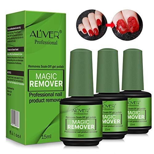 3 Pcs Magic Nail Polish Remover, Professional Easily & Quickly Removes Soak-Off