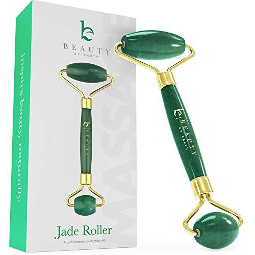 Jade Roller for Face - Face & Neck Massager for Skin Care, Facial Roller