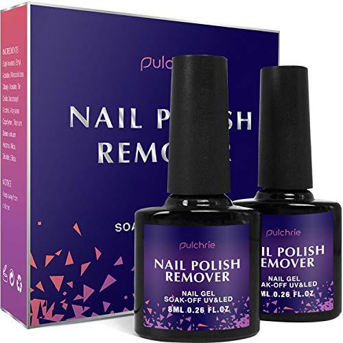 Pulchrie Magic Nail Polish Remover 2 Pcs Professional Removes Soak-Off