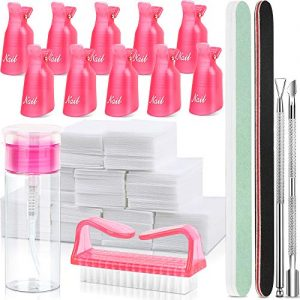 FANDAMEI Nail Polish Gel Remover Tools Kit with Nail Clips