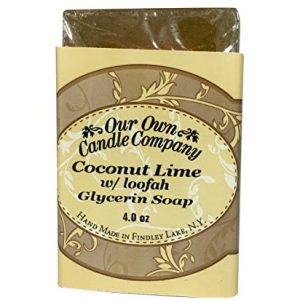 Our Own Candle Company Glycerin Bar Soap, Coconut Lime Loofah