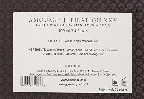 Amouage Jubilation Xxv Man S Eau De Parfum Spray Best