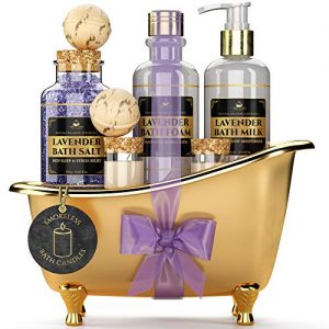 Deluxe Spa Gift Basket for Women [With Smokeless Candles]