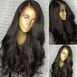 Fenjun Hair Brazilian Full Lace Human Hair Wigs with Baby Hair Pre plucked Frontal