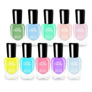 Abitzon New Nail Polish Set (10 Bottles) - Non-Toxic Eco-Friendly Easy Peel Off