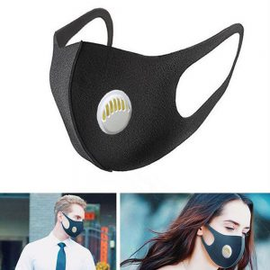 Black Valve Mask Mouth Face Masks Anti PM2.5 Dust Maske Washable Reusable Mouth Cover PM2.5