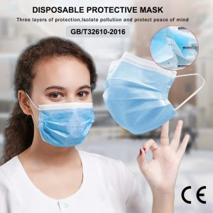 3 Laye Mask dust protection Masks Disposable Face Masks Elastic Ear Loop Dust Filter Safety Mask Anti-Dust CE/FDA Certification