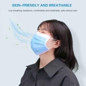 5/10/20/50/100pcs Color Random Non-woven Fabric Disposable Mouth Mask Anti-dust Single-use Face Mask