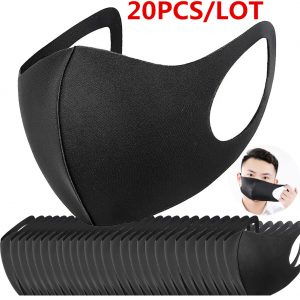 20PC Cotton Mask Anti Haze Dust Washable Reusable Women Men Dustproof Mouth-muffle Filter Safety Mask Protective Face Mouth Mask