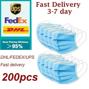 200pcs Disposable Face Mouth Masks Safety Protective Face Mouth Surgical Mask Medical mouth Disposable Protection