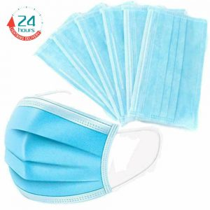 5pcs/Bag Profession Medical Mouth Mask 3ply Dustproof Protective Nonwaven Face Mask For Adult