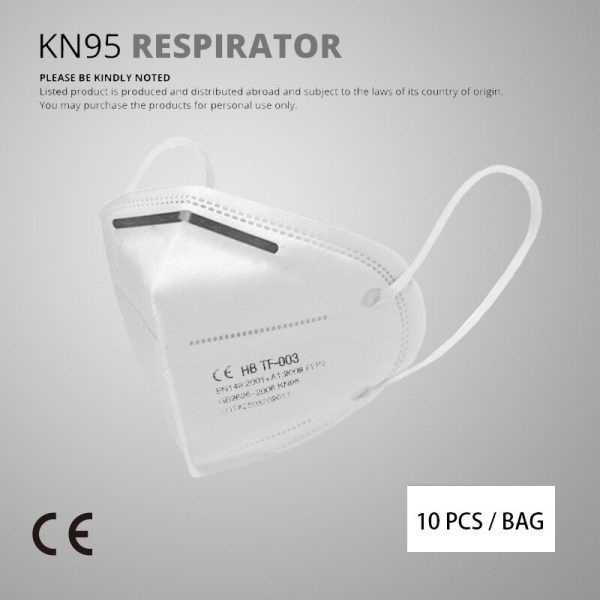 10 Pcs KN95 Face Masks Dust Respirator KN95 Mouth Masks Adaptable Against Pollution Breathable Mask Filter (not for medical use)