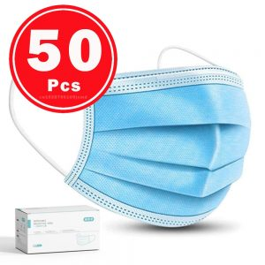 50PCS Surgical Mask Face Mask Medical Masks 3-layer Anti dust Mouth masks Filter Disposable Mask Medical 24 Hours shipping