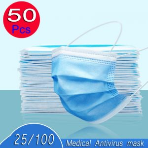 100pcs reusable mouth surgical mask antivirus antibacterial prevent Anti virus bad Bacteria proof face antibacterial masks 50pcs