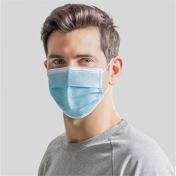 100/50 Pcs Disposable Masks Anti Droplet Anti-flu 3-Layer Filter Safety Face Mask Proof Dustproof Protective Hygiene Mouth Maska