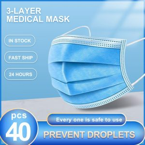 Disposable Face Masks Anti-Pollution 3 Laye Mask protection Masks Elastic Earloops Disposable Anti-Dust Filter Safety Mask