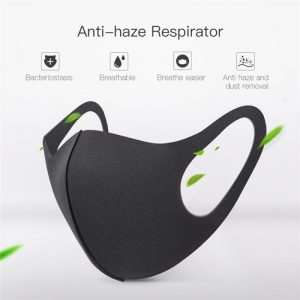 Cotton PM2.5 Black Adult Mouth Mask Anti Dust Activated Carbon Filter Windproof Mouth-muffle Bacteria Proof Flu Mask Washable