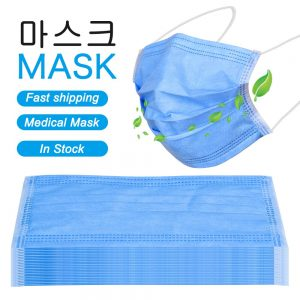 100PCS Medical Masks Anti dust Fast shipping Safe Mouth Face Masks Non-woven Disposable Dustproof Adult Surgical ProtectiveMask