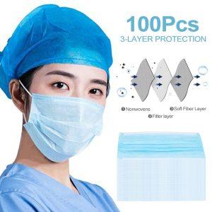 Disposable Mask Face 20pcs Anti-virus 3ply Meltblown Nonwoven
