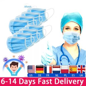 50pcs Face Mask Medical Masks Men Women Anti Dust Mask Mouth-muffle Bacteria Proof Flu Masks 24h Express delivery Disposable