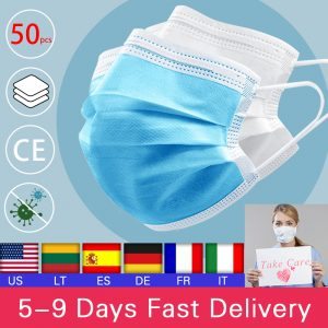 10/20/50pcs Disposable Mouth Face Mask Anti-Dust 3 Layer Mouth Masks Anti Flu PM2.5 Breathable Masks Face Care Elastic Earloop