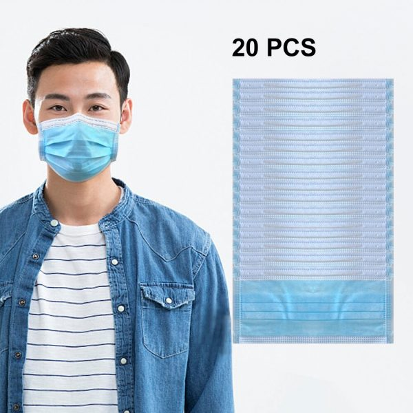 Medical Surgical Disposable Mask 95% Meltblown Cloth Filter Protective Anti Flu Anti Infection Respirator Dust Earloop Face Mask