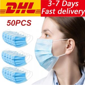 Non Woven Disposable Face Mask 3 Layer disposable face Masks Dust Filter Elastic Facial Dust-Proof Safety Masks