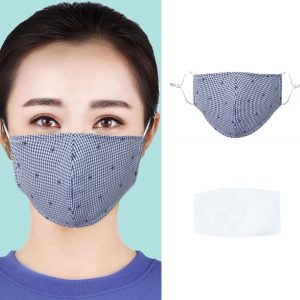 Unisex Non-woven Fabric Face Mask Anti-dust Anti-haze Breathable Washable Reusable Windproof Mask Filter insert
