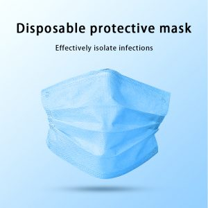 200pcs Certification Disposable mask 3-Layer Non-woven Disposable Soft Breathable Flu Hygiene Face Mask Features as