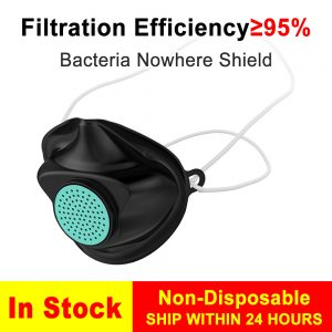 Protective Silicone Mask Anti Dust Virus Face Masks Washable Earloop Mask Non-Disposable Masks Medical Grade Filter as KN95 FFP2