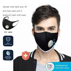 10 Pcs N95 Respirator Mask With Breathing Valve Washable Cotton Activated Carbon Filter PM2.5 Mouth Masks Anti Dust Proof Masks
