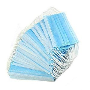 10ct Disposable Face Masks 3-Ply, Elastic Earloop, Non-Woven