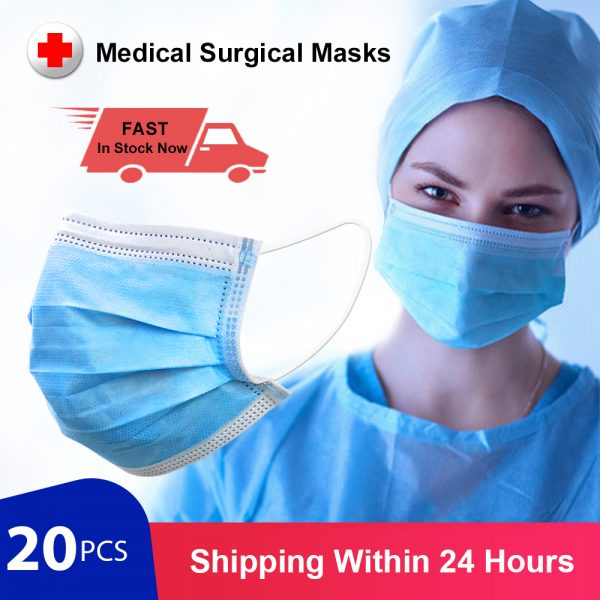 Surgical Masks Anti-Pollution Respirator Face Mask Medical Mask 3 Layer Disposable Medical Masks for dust Protection