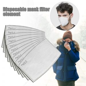 PM2.5 Filter 5 Layers Face Mask 50PCS Activated Carbon Face Masks Filters Anti-Dust Non-woven Protect Mascarilla Filters