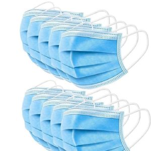 Disposable 3-Ply Face Cover with Earloops Protective for Pollen, Smoke