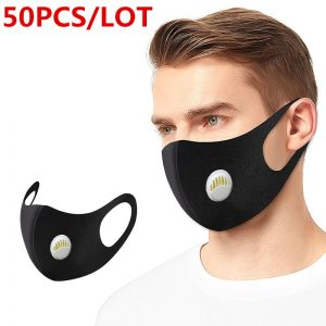 Air Valve N95 Mask Face Mask Black Breathable Mouth Mask Reusable Anti Pollution Face Shield Wind Proof Mouth Cover Fpp2 PM2.5