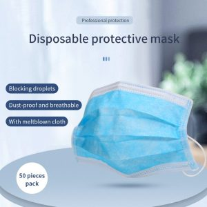 Disposable Medical face Mask Non Woven Fabric Mouth Face Masks Anti Dust 3 Layer 50 pcs surgical Face Mask Adult Filtration Mask