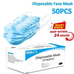 Face Mask Medical Surgical Face Mask Medical Masks Disposable Earloop Masks Anti Influenza Breathing Safety Dust Mask