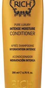 RICH Pure Luxury Intense Moisture Conditioner with Hydrolyzed Keratin for All Hair Types - Moisturizing & Smoothing, Anti-frizz, Prevents Split Ends (1 x 6.75 oz)