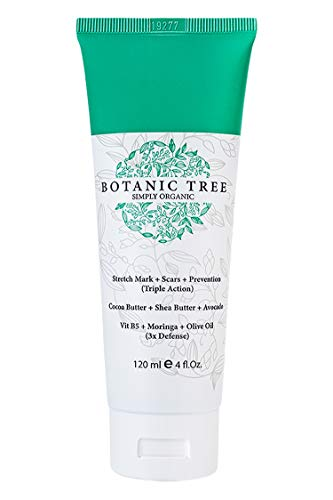 Stretch Mark Cream Removal-It Helps To Decrease Stretch Marks in 93% of Customers in 2 Months-Helping Scars and Prevention-Contains Organic Cocoa, Shea Butter And Avocado.