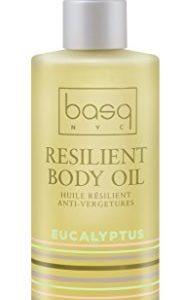 Basq Skin Care Resilient Body Stretch Mark Oil, Eucalyptus, 4 Fluid Ounce