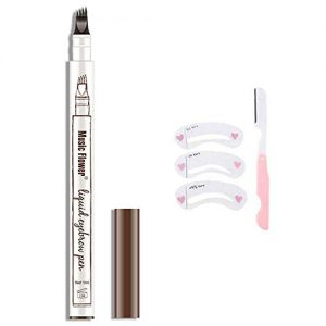 HSEE Eyebrow Tattoo Pen, Microblading Eyebrow Pen, Waterproof Eyebrow Pencil for Professional Makeup, Draws Natural Brow Hairs & Fills in Sparse Areas & Gaps, Dark brown/Chestnut, 1 Count