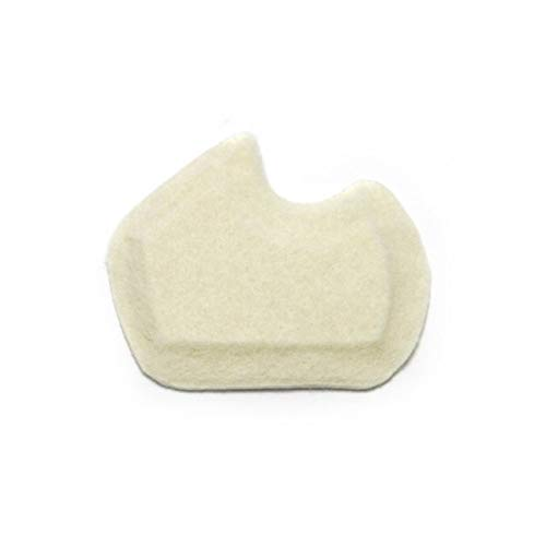 """Premium Dancers Pads for Ball of feet Pain - Sesamoiditis Pads - 1/4"""" Thick Adhesive Skived Felt - 12 Pieces - Right Foot"""