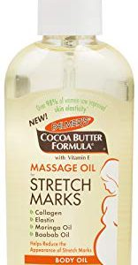 Palmer's Cocoa Butter Formula Massage Oil for Stretch Marks & Pregnancy Skincare   3.4 Ounces