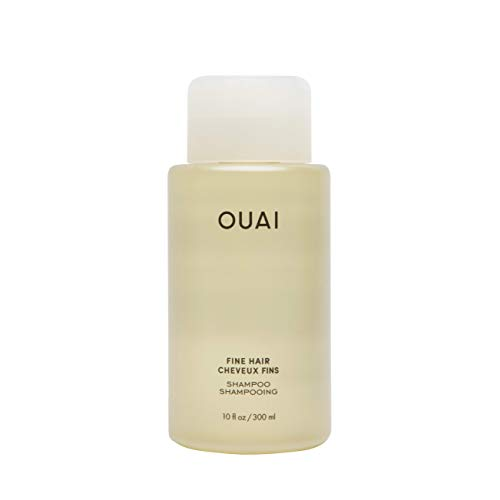 OUAI Fine Shampoo. Bring Fine Hair to the Next Level with Strengthening Keratin, Biotin and Chia Seed Oil. Hair is Left Clean, Bouncy and Voluminous. Free from Parabens, Sulfates and Phthalates. 10 oz