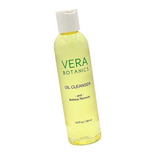 Natural Cleansing Oil And Makeup Remover by Vera Botanics. Only 4 Ingredients. Gentle Daily Oil Cleanser For A Deep Face Wash. Remove Any Makeup. For All Skin Types. Eliminate Clogged Pores Blackheads
