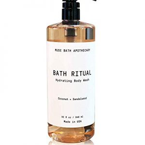 Muse Bath Apothecary Bath Ritual - Aromatic and Hydrating Body Wash, 32 oz, Infused with Natural Essential Oils - Coconut + Sandalwood