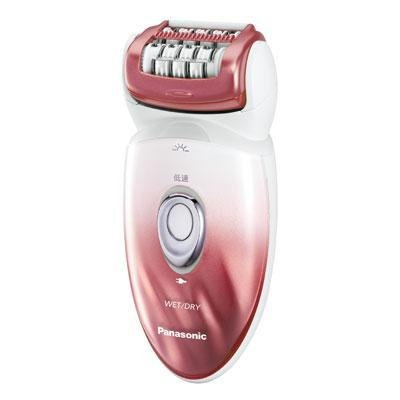 Panasonic ES-ED90-P Wet/Dry Epilator and Shaver, with Six Attachments including Pedicure Buffer for Foot Care, Red