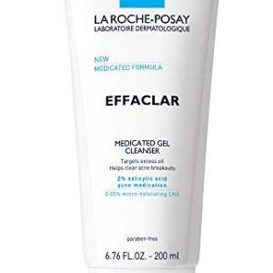 La Roche-Posay Effaclar Medicated Gel Acne Face Wash, Facial Cleanser with Salicylic Acid for Acne & Oily Skin, 6.76 Fl. Oz.